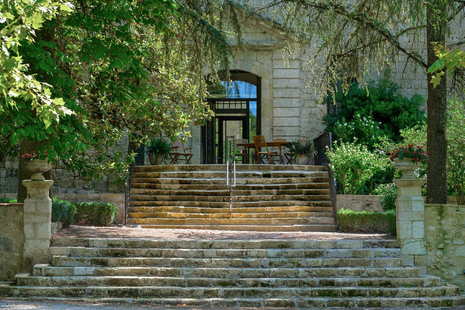 L'entrée du Chateau de Cassaigne